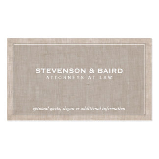 Attorney Law Office Linen Texture Look (No Line) Pack Of Standard Business Cards