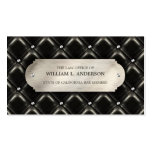 Attorney Law Office Quilted Leather business card