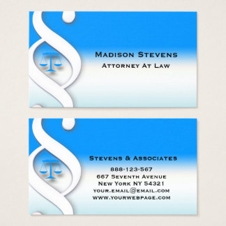Attorney Lawyer Attorney Symbol Business Card