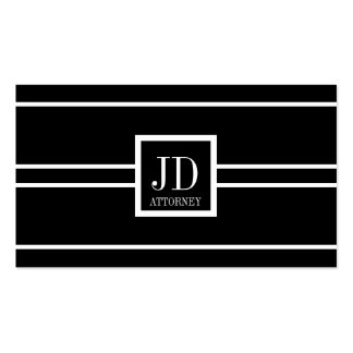 Attorney Lawyer Black/White Striped Pendant Business Card Template