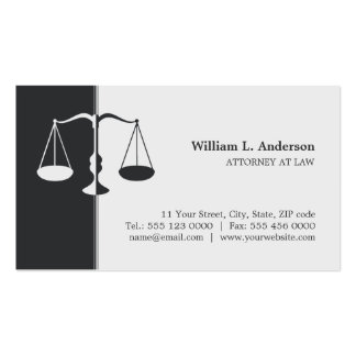 Attorney / Lawyer - Charcoal Grey business card