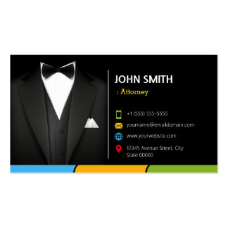 Attorney Lawyer Consultant Tuxedo Businessman Suit Pack Of Standard Business Cards