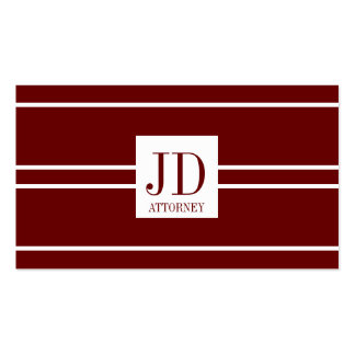Attorney Lawyer Dark Cherry White Striped Pendant Business Card Template