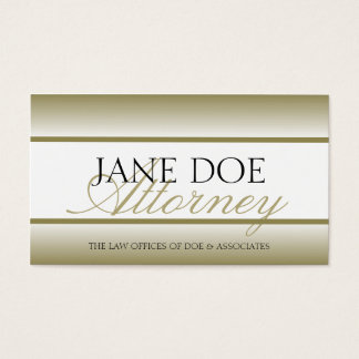 Attorney Lawyer Gold Fade - Available Letterhead - Business Card