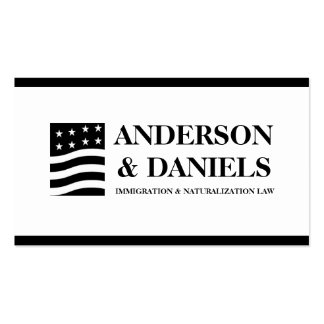 Attorney Lawyer Immigration Naturalization Law Business Card Templates