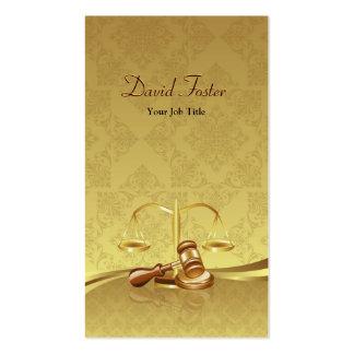 Attorney Lawyer Justice - Elegant Gold Leaf Damask Pack Of Standard Business Cards