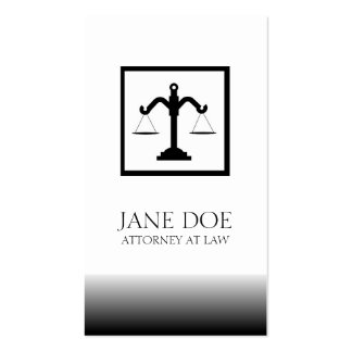 Attorney Lawyer Law Firm Office Scale Fade Business Cards