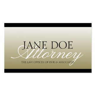 Attorney Lawyer Law Firm Office Script Gold Fade Business Card Templates