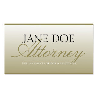 Attorney Lawyer Law Firm Script Gold Fade Business Card Templates