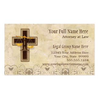 Attorney Lawyer Legal Practice Christian Symbol Pack Of Standard Business Cards