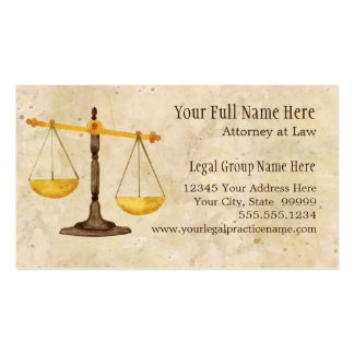 Attorney Lawyer Legal Practice Judge Symbol Pack Of Standard Business Cards