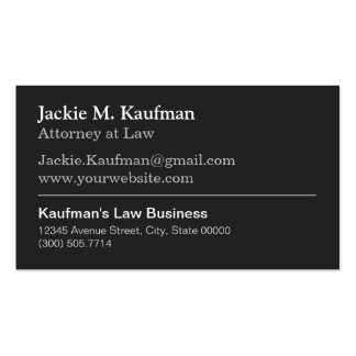Attorney Lawyer - Modern Plain Black and White Pack Of Standard Business Cards