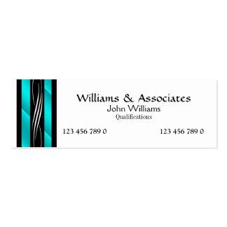 Attorney Lawyer monogram aqua turquoise Business Card Templates