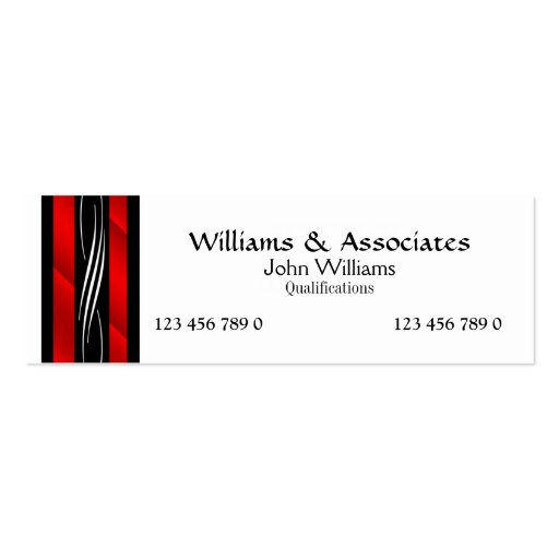 Attorney Lawyer monogram red Business Card Templates