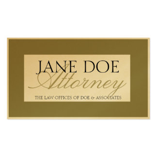 Attorney Laywer Gold Script Business Card Template