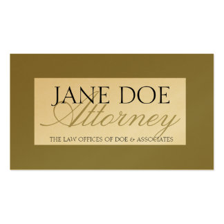 Attorney Laywer Gold Script Business Card