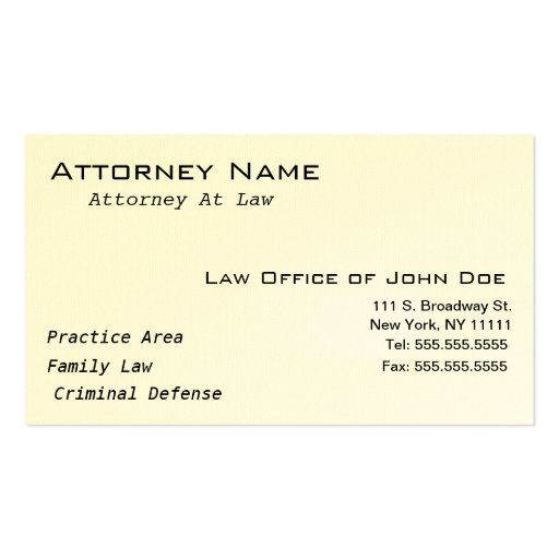 Attorney Modern II - Simple, Clean, Elegant Business Card Templates