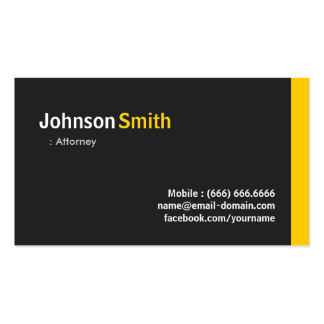 Attorney - Modern Minimalist Amber Pack Of Standard Business Cards