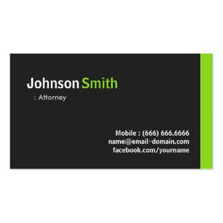 Attorney - Modern Minimalist Green Pack Of Standard Business Cards