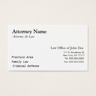 Attorney Modern - Simple, Clean, Elegant Business Card