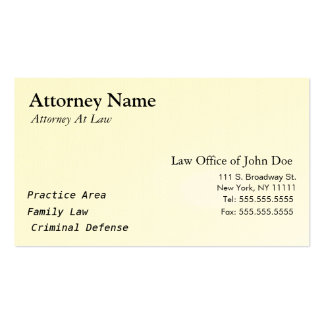Attorney Modern - Simple, Clean, Elegant Pack Of Standard Business Cards