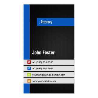Attorney - Modern Stylish Blue Pack Of Standard Business Cards