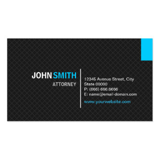 Attorney - Modern Twill Grid Pack Of Standard Business Cards