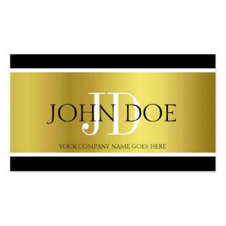 Attorney Monogram Gold Metallic Business Card Templates
