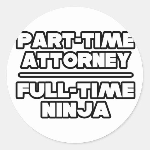 Attorney / Ninja Sticker