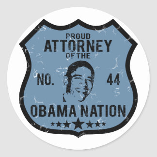 Attorney Obama Nation Round Sticker