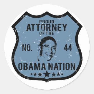 Attorney Obama Nation Round Sticker