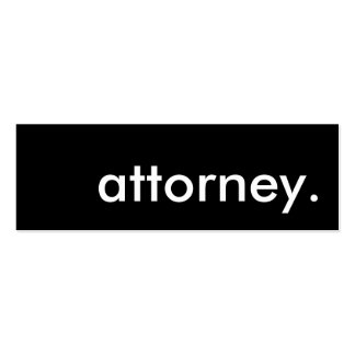 attorney. pack of skinny business cards