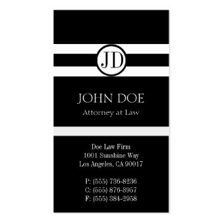 Attorney Pendant Black Business Card Template