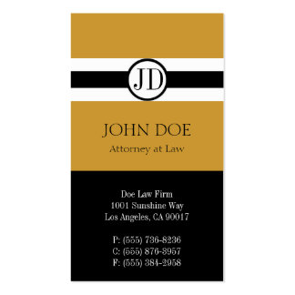Attorney Pendant Gold Business Card Template