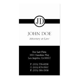 Attorney Pendant White Business Card