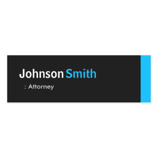 Attorney - Personal Aqua Blue Mini Pack Of Skinny Business Cards
