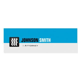 Attorney - Personal Aqua Blue Pack Of Skinny Business Cards