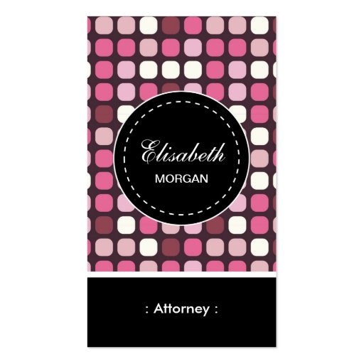 Attorney- Pink Polka Pattern Business Card Templates