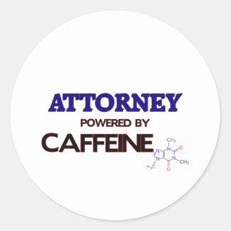 Attorney Powered by caffeine Stickers