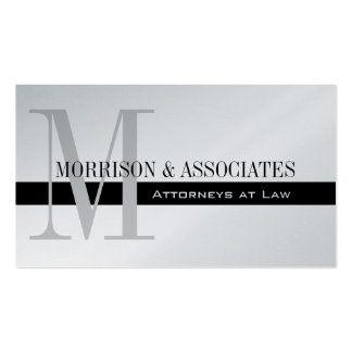 Attorney Professional Business Card Platinum