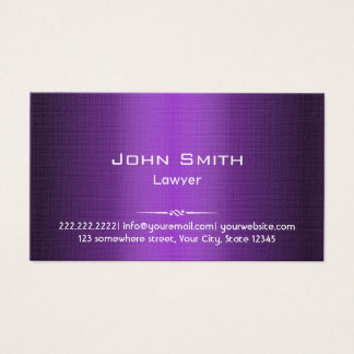 Attorney Professional Purple Shades Business Card