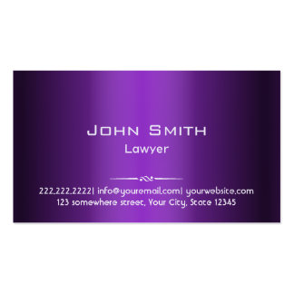 Attorney Professional Purple Shades Pack Of Standard Business Cards