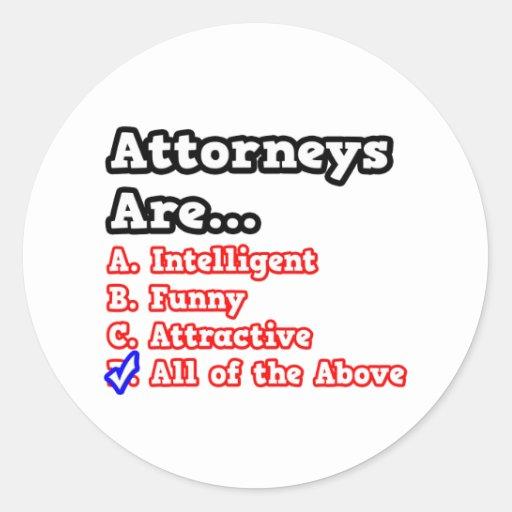 Attorney Quiz...Joke Sticker