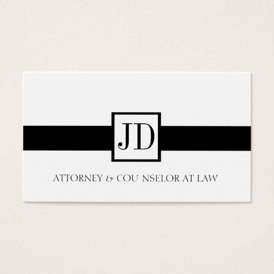 Attorney Ribbon Square - Available Letterhead - Business Card
