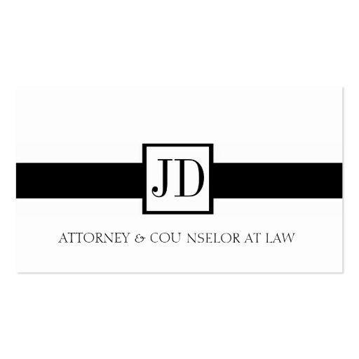Attorney Ribbon Square - Available Letterhead - Pack Of Standard Business Cards