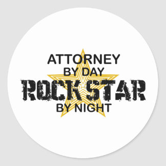 Attorney Rock Star by Night Round Sticker