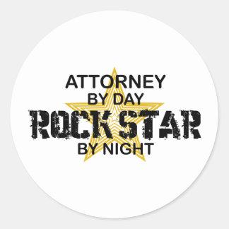 Attorney Rock Star by Night Round Sticker