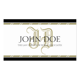 Attorney Roman Gold Monogram -AvailableLetterhead- Business Cards