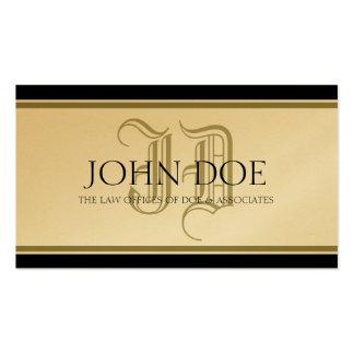 Attorney Roman Golden Monogram Business Card