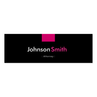 Attorney - Rose Pink Compact Pack Of Skinny Business Cards
